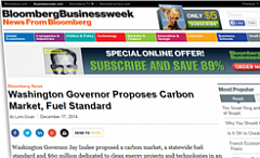 Washington Governor Proposes Carbon Market, Fuel Standard.
